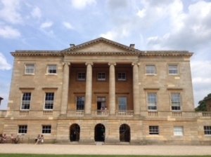 The 18th-century mansion of Basildon Park; look familiar from the filming of Pride & Prejudice (Keira Knightley version)?