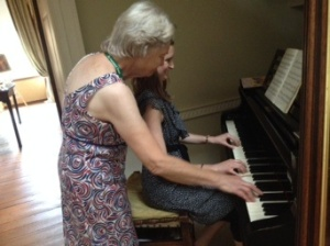 One of the National Trust volunteers was an accomplished pianist and teacher who decided to play a duet with me. She urged me to have a concerto ready to perform next time I return to Basildon. :-)