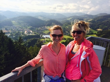 """At the top of """"The Homecoming"""" above Waldhausen, Austria."""