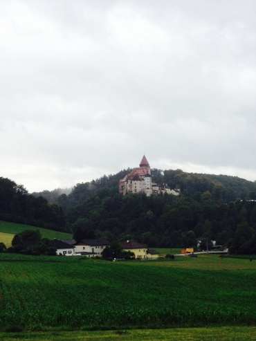 Burg Clam, a castle where we listened to Bob Dylan perform.